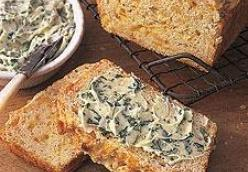 Cheesy Oat Bread with Green Onion Butter