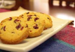 Cornmeal Cranberry Cookies