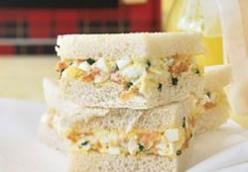Smoked Salmon and Egg Salad Tea Sandwiches