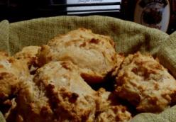 Whole Wheat Honey and Goat Cheese Drop Biscuits