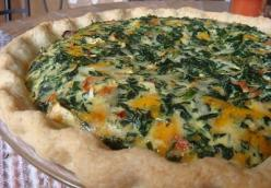 Savory Spinach and Egg Quiche