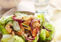 Hawaiian Grilled Shrimp Salad