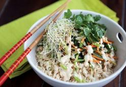 Dragonboat Rice Bowl with Miso Tofu Dressing