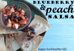 Blueberry & Peach Salsa