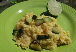 Cheesy Lime Zucchini Rice