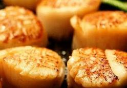 Sandra's Pan-Seared Scallops with an Asian Dipping Sauce