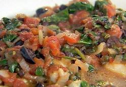 Fish with Tomatoes, Olives and Capers