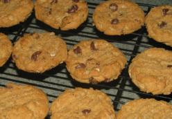 Chocolate Chip, Oatmeal, Peanut Butter Cookies