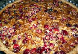 Caramelized Cranberry & Pecan Tart