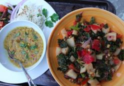 Indian-Inspired Kale and Kohlrabi