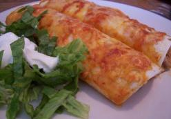 Beef and Rice Enchiladas