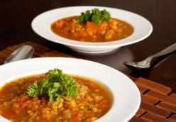 Exotic Spiced Lentil and Tomato Soup