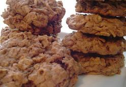 Nutella and Coconut Oat Cookies