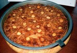 Hazzelnutbuterkoeke or hazelnootboterkoek or Hazelnut and butter coffee cake