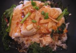 Steamed Cod with Ginger Hoisin Sauce