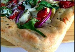 Whole Wheat Focaccia with Artichokes