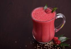 Ghosted Raspberry orange smoothie