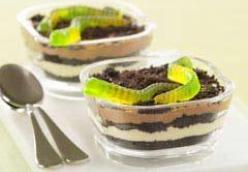 Oreo sand and dirt cups