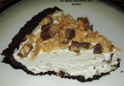 No Bake Snickers Pie