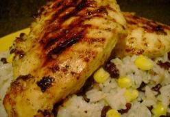 Cuban Mojito Chicken w/cilantro black bean & corn rice