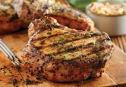 Savory Charcoal Grilled Center Cut Pork Chops