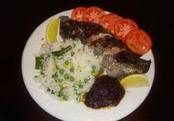 Shito Tilapia with Vegetable Rice