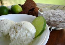 Coconut lime ice cream