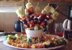 Delectable Fruit & Egg Tray