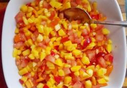 Easy Mango Tomato Pico de Gallo