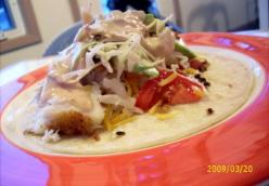 Fish Tacos with Green Chile Cream