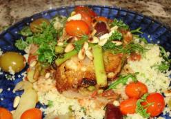 Chicken Mediterranean with Bed of Savory Quinoa